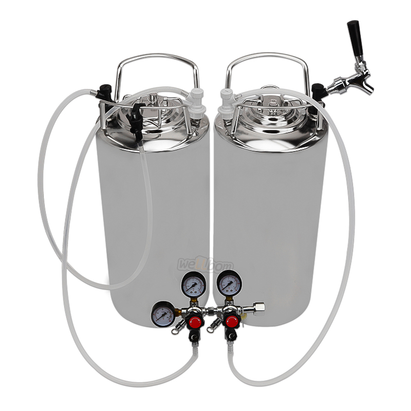 High quality Two 5 Gallon Cornelius Kegs  with System homebrew beer