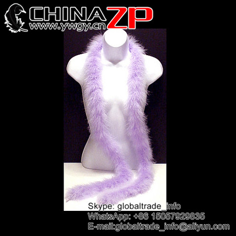 NO.1 Supplier CHINAZP Bulk Sale Fashion Fluffy Dyed Lilac Turkey Marabou Feathers Plumage Scarf Boa for Wedding Decoration
