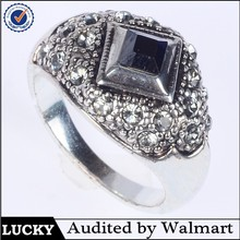 Nice black obsidian ring cheap price factory direct