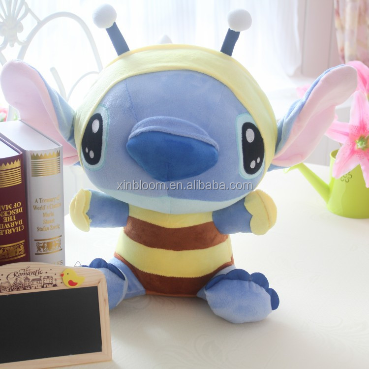 cartoon animal style kid's birthday or festival gift 20 40 50 cm lilo and stitch bee clothing plush doll toy