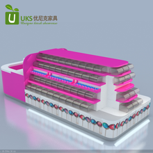 100% high quality retail food candy kiosk design for sale