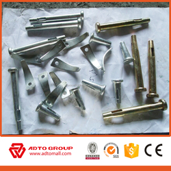 ADTO Steel anti corrosion high safety construction Electroplated Joint Pin Scaffolding Lock Pin