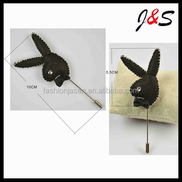 New arrival MEN'S play boy lapel pin for suitJSLP025