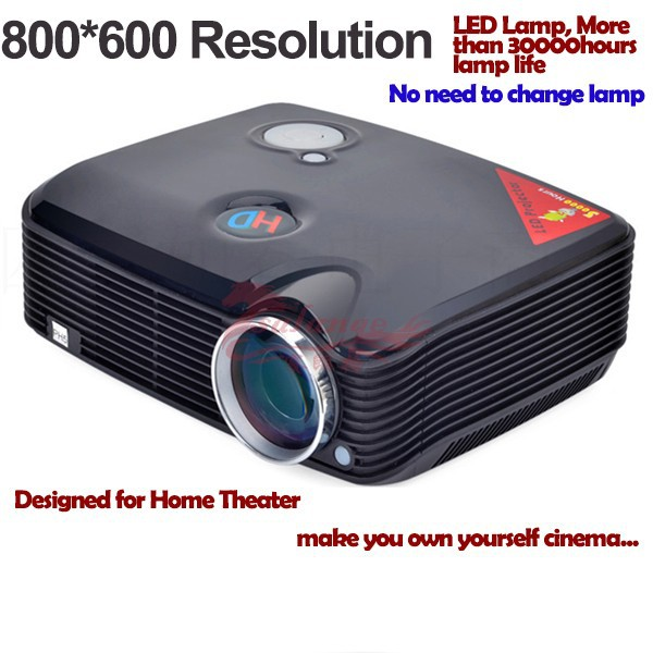 "2015 Newest <strong>150</strong>"" <strong>Screen</strong> Mini Short Throw Projector for Home Theatre and Personal Use By Salange"