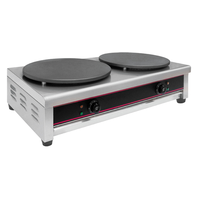 Double Plate Electric French Crepe Making Machine With Non Stick Surface EM-2