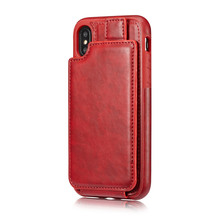 Premium PU Leather Vertical Flip Wallet Credit Card Holder Case for iPhone X 10