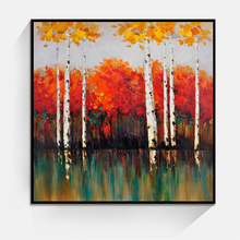 JC Promotional Home Decoration Living Room Forest Landscape Canvas Oil Painting LAN-5