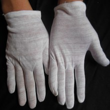 disposable white cotton ceremonial gloves