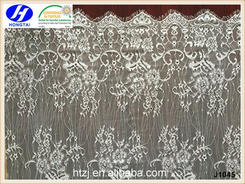 New products 2016 africa eyelash teal embroidery net lace fabric for wedding dress