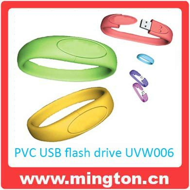 4GB Silicone medical id bracelet usb flash drive