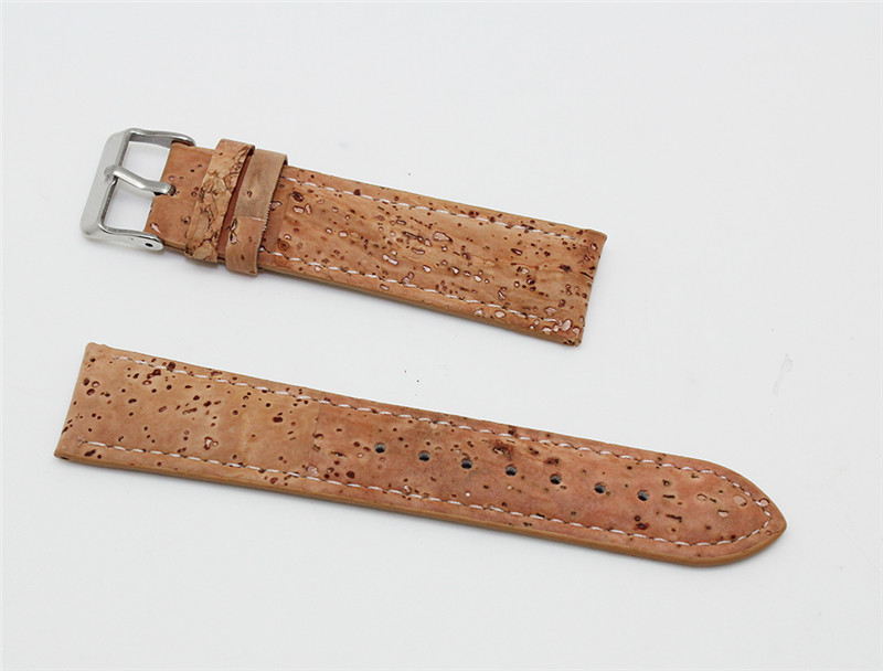 Boshiho vegetable leather natural cork watch straps