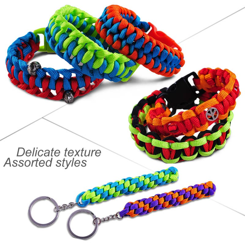 Multi-Purpose Outdoor Survival Kit Cross Paracord Camping Accessories Paracord Survival Bracelet