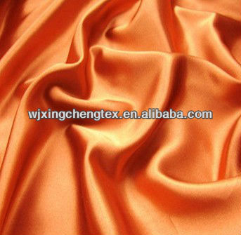 Crepe satin 50D Poly Yarn Dyed Skirt Dress Spandex Stretch Satin Fabric