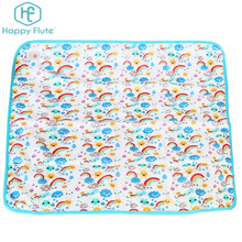 Happy flute animal minky print PUL Baby changing Pads Floor Mat