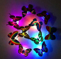 Wholesale waterproof LED optic fibre butterfly with petal night light for Party