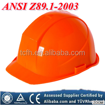 ANSI Z89 Standard construction HDPE material industrial safety helmets hard hat