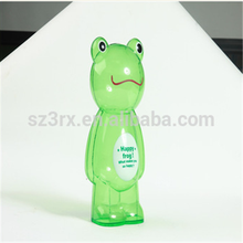Custom frog shaped coin bank clear plastic money boxex saving bank