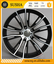 "SS Wheel Supply 18""19""20""21""black machine face/black replica aluminum alloy wheels for M6 624"