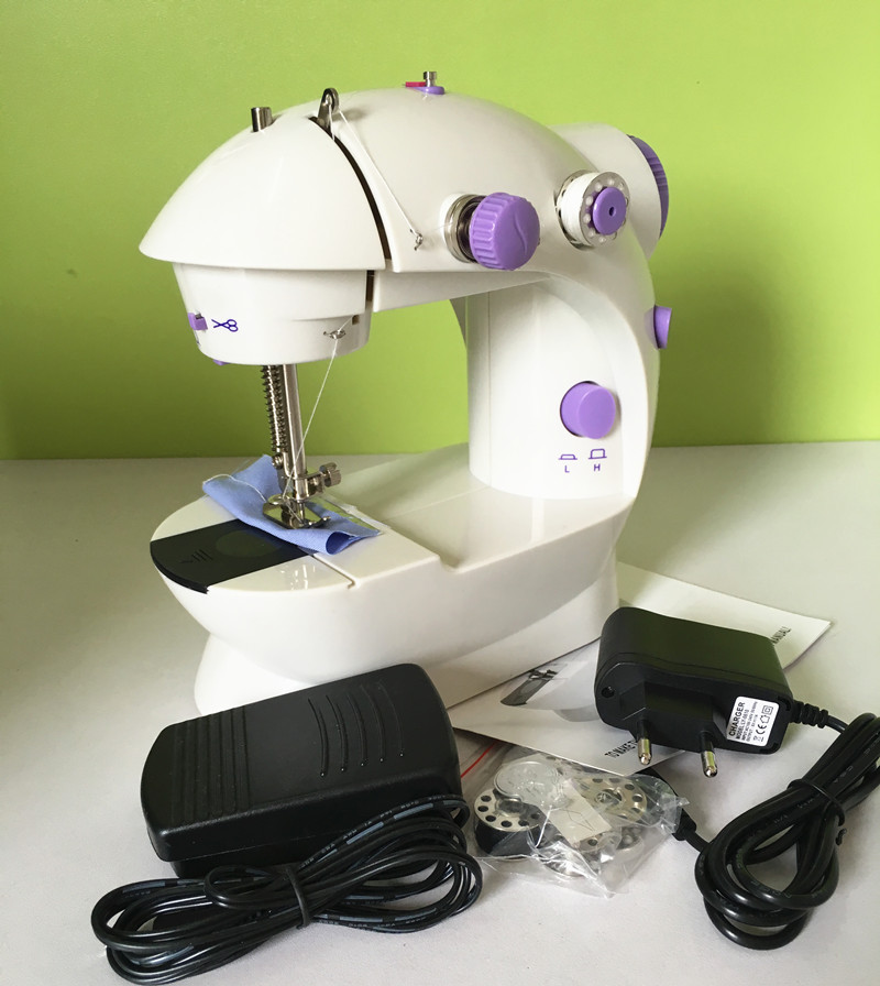 Handheld sewing machines Dual Speed Double Thread Multifunction EU Electric Mini Automatic Tread Rewind Sewing Machine