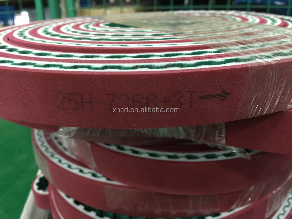 Best quality red rubber coated coated industrial timing belt