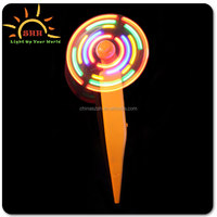 bifengshan Promotional Products Novelty Items, ABS Material Battery Light Up Plastic LED Mini Flashing Light Fans