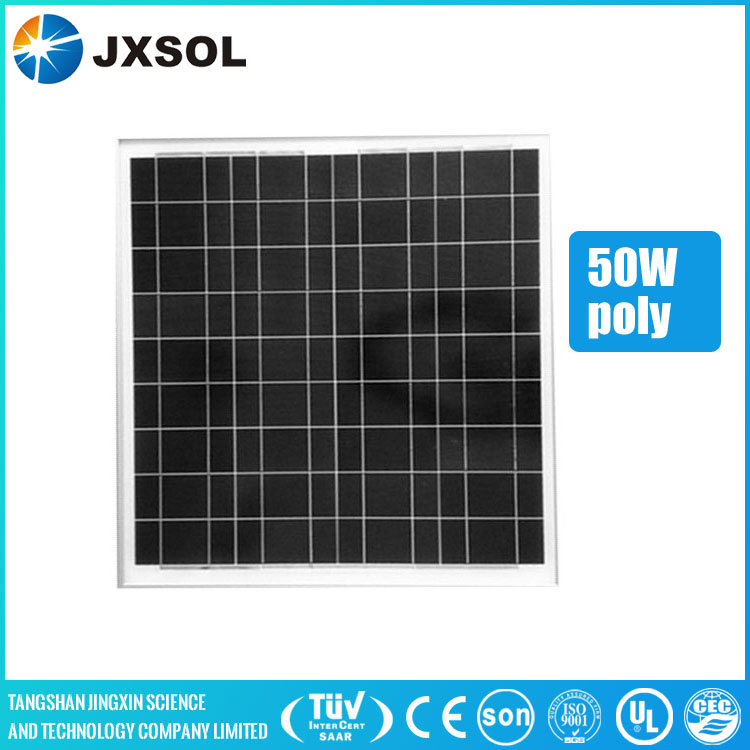 TUV CE ISO certificated cheap price 50w poly photovoltaic solar panels for home use