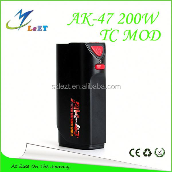 Alibaba express in spanish hot selling temper control box mod kamry ak-47 200w