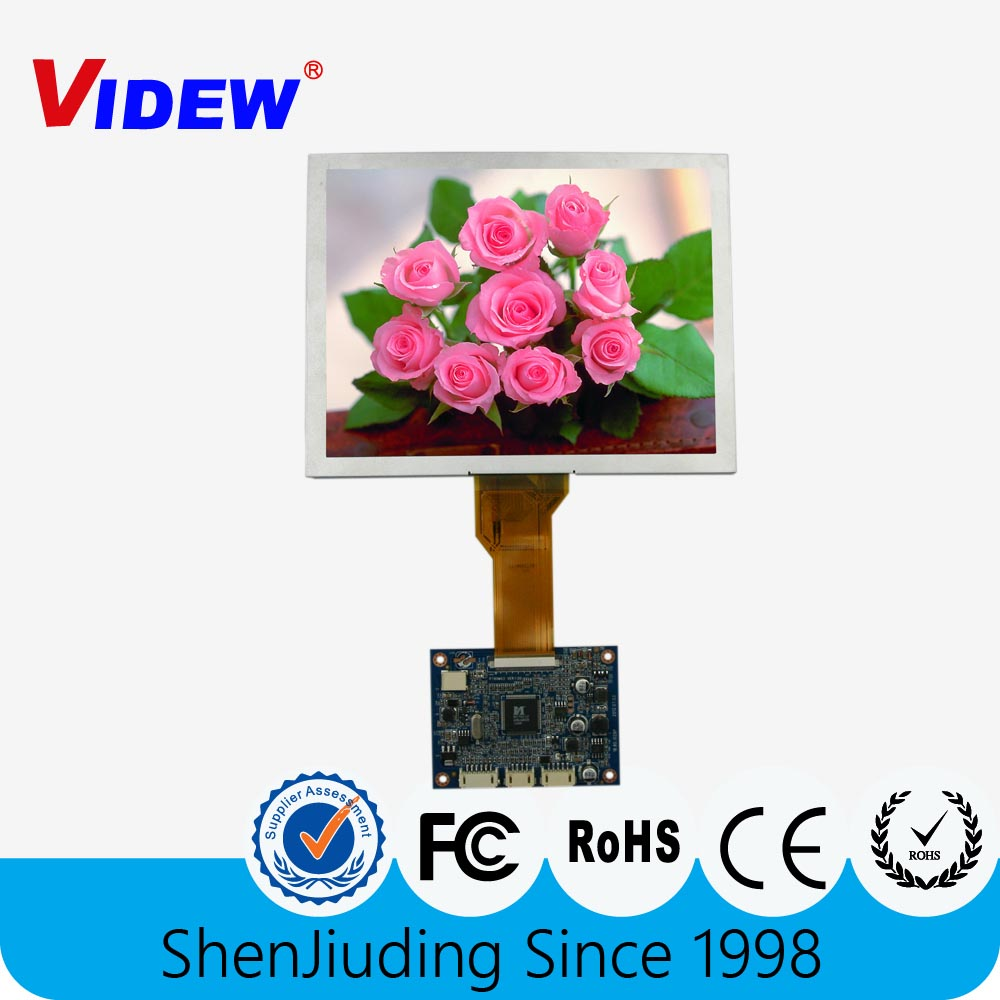 8 inch lcd panel 800x600 with Touch Screen displaying VGA Module