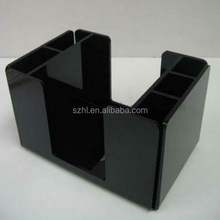 Black acrylic straw dispenser box with compartments