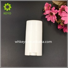 70g oval plastic deodorant stick container for body care