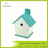 Breeding birdcage bird nest progenitive box bird nest for small parrot and budgie Blue Wooden Bird House