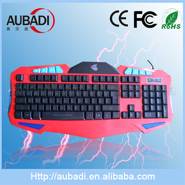 2016 cheapest notebook red /black computer best selling wired USB gaming keyboard