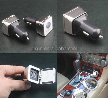 Wholesale promotional Double USB Car Battery Charger, 12V quick charge custom Dual USB Car Charger