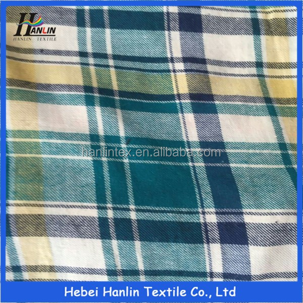cheap cotton shirting fabric stocklot in china/Stocklot Woven Plaid Yarn-dyed fabric for shirting