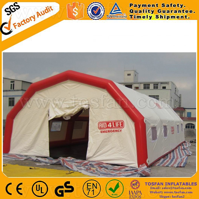 Outdoor giant inflatable emergency medical hospital tent F4095