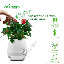 Cheap New Abs Plastic Flowerpot Bluetooth Music Led Light Flower Pot Plant Vase With Intelligent Touch Control Home And Office