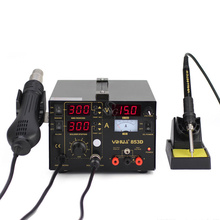 853D SMD DC Power Supply Hot Air Gun Rework Solder Soldering Iron Station