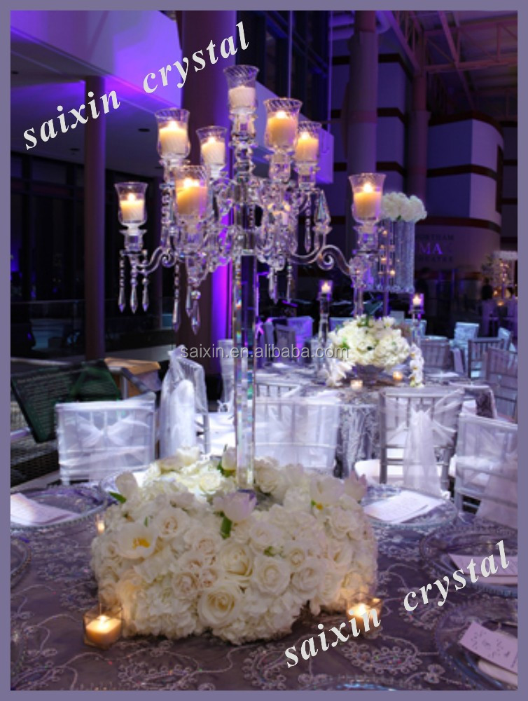Clear crystal candelabra for wedding table buy