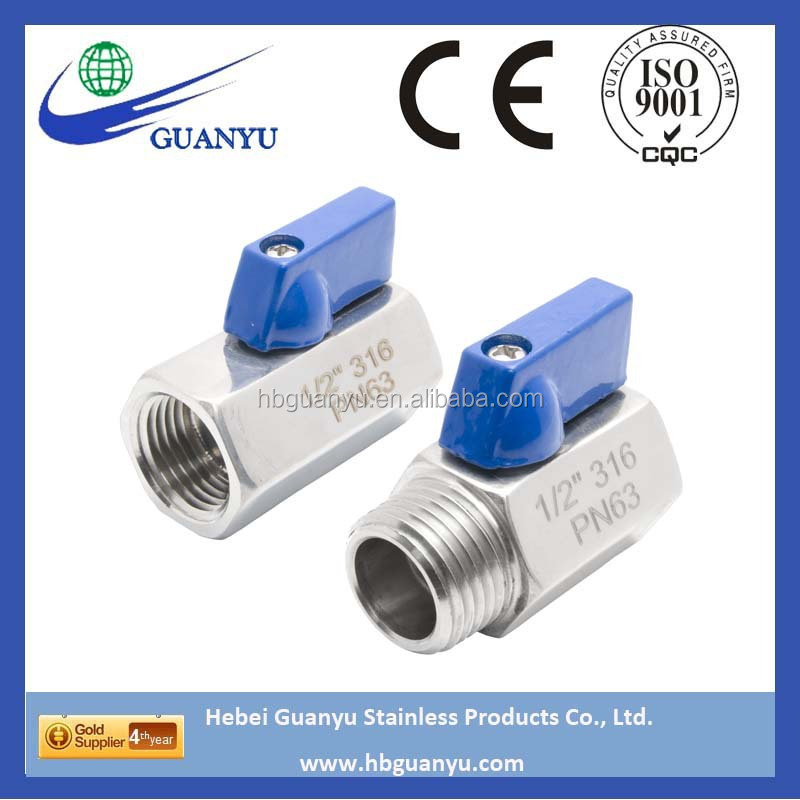 304 316 316l stainless steel mini ball valve made in China