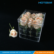 Clear Rose Display Case Rose Flower Holder Storage Box Transparent Acrylic Gift Box
