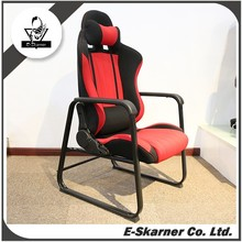 E-Skarner red color game folding high class leather chair