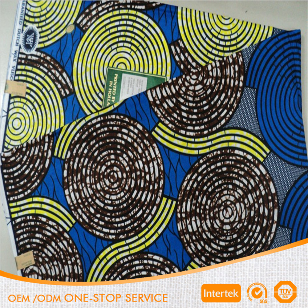 100% Cotton really african wax printed fabric
