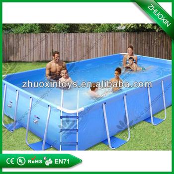 Beliebte billige outdoor rechteckig intex ultra frame pool for Billige schwimmingpools