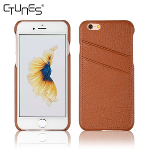 C&T 2 Credit Card Slot Genuine Leather Phone Case Cover for iPhone 6 plus
