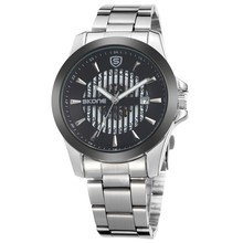 SKONE 7232 waterproof stainless steel men watch skeleton