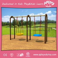 Two seat outside park metal play structure equipment garten playground outdoor kids best swing sets