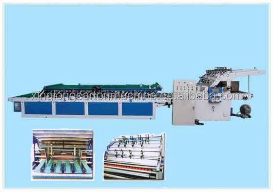 corrugated cardboard semi-automatic laminating machine