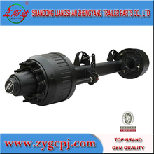 Red type six axle for semi truck trailer