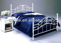 Steel furniture hand-forged comfortable wrought iron bed