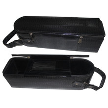 Factory wholesale pu leather wine bottle packaging bag handbag carrier with zipper